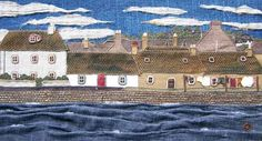 Scottish Textile Art - Carol Arnott - Textile Gallery page 1 Free Motion Embroidery, Embroidery Applique, Machine Embroidery, Sewing Art, Sewing Patterns, Stitch Pictures, Fabric Pictures, House Quilts, Landscape Quilts