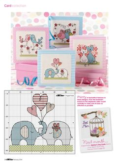 TS Love-ly Creatures by Angela Poole Cross Stitch Collection Issue 232 Cross Stitch For Kids, Cross Stitch Heart, Cross Stitch Cards, Cute Cross Stitch, Cross Stitch Designs, Cross Stitching, Cross Stitch Embroidery, Cross Stitch Patterns, Simple Embroidery