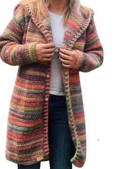 Crochet Hoodie, Crochet Cardigan Pattern, Knit Or Crochet, Sweater Patterns, Crochet Sweaters, Chrochet, Knitting Patterns, Bohemian Crochet Patterns, Crochet Ideas