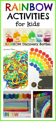 TONS of rainbow activities for kids!  Arts, Crafts, Science, Fun Food, and more!