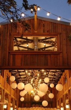Hanging Lanterns, Lanterns in Barn, Rustic Wedding Reception