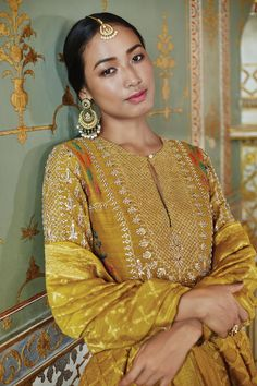 Anita Dongre Tree of Love collection Indian Wedding Outfits, Pakistani Outfits, Indian Outfits, Kurti Designs Party Wear, Kurta Designs, Indian Attire, Indian Wear, Anarkali, Lehenga
