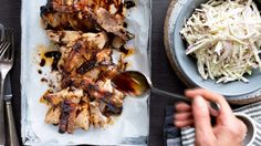 Juicy, crunchy marinated pork roast