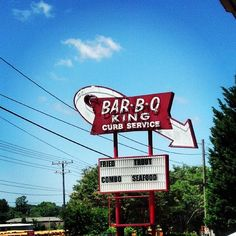 Check Out Barbecue King Drive-In as seen on Best Thing I Ever Ate , Diners, Drive-ins and Dives on TVFoodMaps