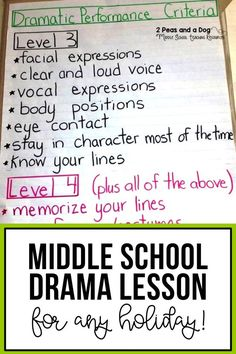 Holiday Drama Lesson - 2 Peas and a Dog Middle School Drama, Middle School English, Drama Teacher, Drama Class, Drama Drama, Girl Drama, Drama Activities, Drama Games, Holiday Classrooms