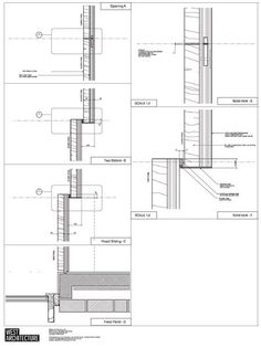 Sliding wood screens detail; West Architecture