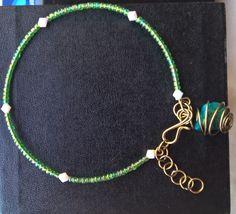 Bracelete Charm Crisocola Caged