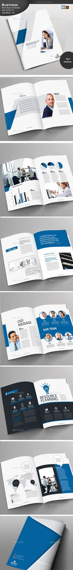 #Business #Brochure - Brochures Print #Templates Download here: https://graphicriver.net/item/business-brochure/19038874?ref=alena994