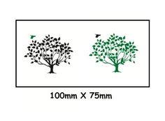 """Bird and Tree"" Waterproof Body Tattoo Stickers 2pcs/set"