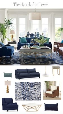 South Shore Decorating Blog: Blue and White Room Perfection: Sourcing an Iconic Room for Less