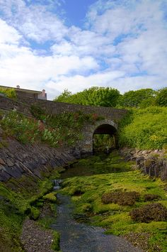 Schull, West Cork - Stone bridge down near the harbor