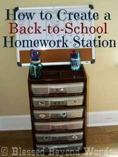 Back to School Homework Station by @Angie Wimberly Wimberly Wimberly Wimberly Vinez #Michaelsbts