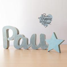 Nombre de madera personalizado o en la mesa dulce de comuni/ón. letras decorativas de madera ideales para decoraci/ón infantil,perfecto regalo de cumplea/ños o reci/én nacidos