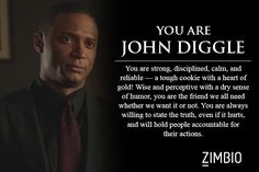 The first time I took it, I was Oliver Queen. But I like Diggle - he's solid.