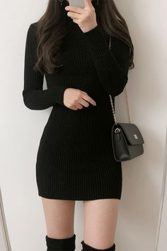 Day Turtleneck Knit OPS January 05 2020 at fashion-inspo Teen Fashion Outfits, Kpop Outfits, Girls Fashion Clothes, Fashion Dresses, Fashion Women, Fashion Ideas, Fashion Tips, Cute Skirt Outfits, Cute Casual Outfits