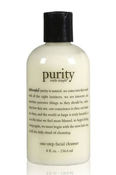 face cleanser Philosophy Purity Made Simple One-Step Facial Cleanser, 8 Ounce >>> Visit the image link more details. Skin Care Regimen, Skin Care Tips, Organic Skin Care, Natural Skin Care, Organic Beauty, Natural Face, Natural Oils, Natural Beauty, Skin Care