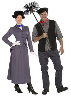 """Mary Poppins and Bert! You'd certainly have a """"lucky"""" Halloween with Bert :)"""