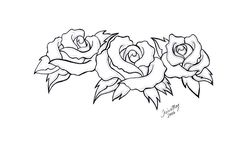 rose tattoo drawing vine roses drawings tattoos three outline stencils heart mom flower tattoodaze