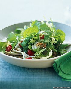 Arugula, Frisee, and Red-Leaf Salad with Strawberries - Whole Living Eat Well