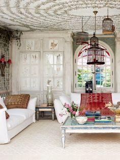 colourful & quirky - there are a lot of white interiors on pinterest - I think this makes a nice change!!