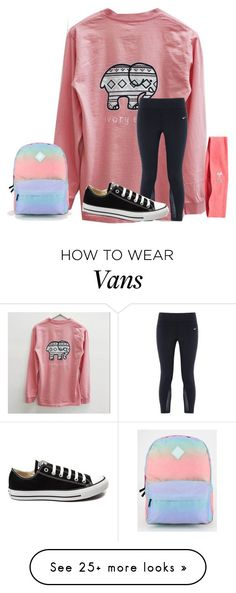 """Heyyyyy y'all❤️"" by texasgirlfashion on Polyvore featuring NIKE, Converse, Vans, Under Armour, women's clothing, women, female, woman, misses and juniors"