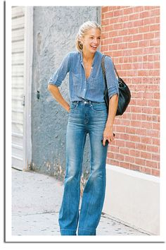 Meredith Melling Burke of Vogue makes #denim on denim into high fashion #jeans