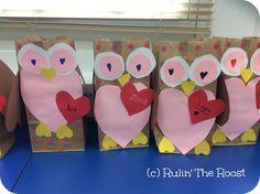 Classroom Freebies: Owl Valentine Bags!