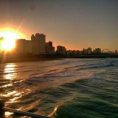 Durban's beachfront Via Instagram @sachin_d92