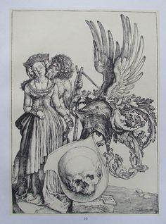 DÜRER DAS WAPPEN DES TODES Kunstdruck Reproduktion Art Print deutscher Maler