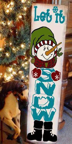 Christmas Wood Crafts, Christmas Signs Wood, Holiday Signs, Christmas Porch, Snowman Crafts, Christmas Projects, Holiday Crafts, Christmas Decorations, Christmas Ornaments