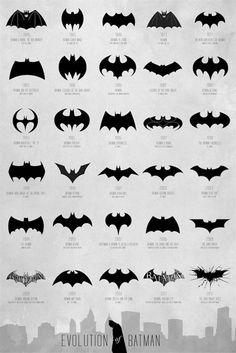 Evolution du logo de Batman de 1940 à aujourd'hui.