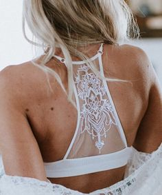 6e1aec264666f This White Lace-Back Tattoo Bralette - Women is perfect!  zulilyfinds Lace  Back
