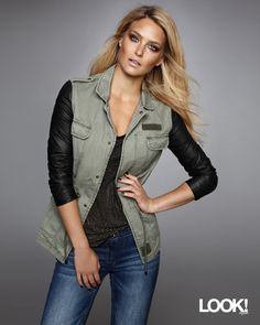 2271f77bcb Bar Refaeli s biker chic look from the  Sears Canada Nevada collection -  isn t