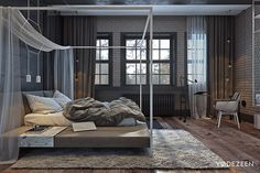 Loft apartment for a young couple in Kiev on Behance