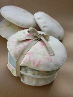 Lavender and Rose bundles tied with linen ribbon from Delphi Burling