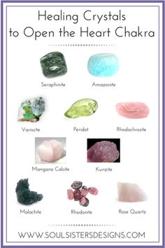 Healing Crystals to work opening your Heart Chakra to Love Crystal Guide, Crystal Magic, Healing Crystal Jewelry, Crystal Healing Stones, Crystal Cluster, Crystals Minerals, Rocks And Minerals, Crystals And Gemstones, Stones And Crystals