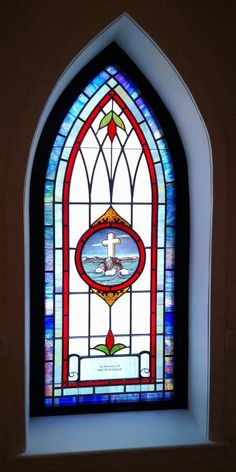 Laws Stained Glass Studios installed opalescent glass windows into the chapel at Lee Park Baptist Church in Monroe, NC