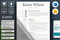 R45-Karen Wilson-1 Cover Letter Format, Cover Letter For Resume, Cover Letter Template, Cv Template, Letter Templates, Resume Templates, Design Templates, Cover Letters, Design Tutorials