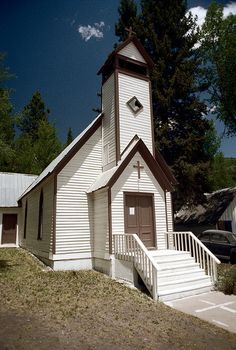 marble, colorado, 1977    marble community church  this building, the former st. paul's episcopal church, was moved by rail from aspen in 1908    more info on the marble community church -> www.marblecommunitychurch.org/history.html    part of an archival project, featuring the photographs of nick dewolf