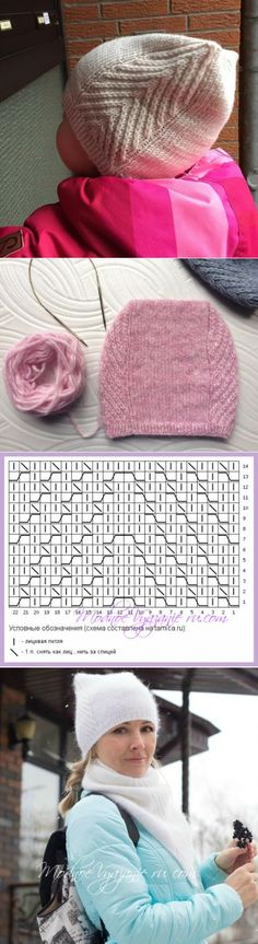 Baby Knitting Patterns Mittens Cap and snood MEOW MEOW from Tatyana Mukolas – Modnoe … Baby Knitting Patterns, Crochet Cowl Free Pattern, Baby Hats Knitting, Knitting For Kids, Knitting Stitches, Knitted Hats, Crochet Patterns, Crochet Hats, Knit Crochet