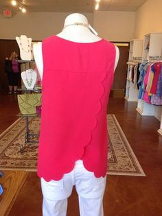 Scalloped back tank top from Gigi's Boutique!