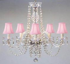 CHANDELIER WITH SHADES CRYSTAL CHANDELIERS