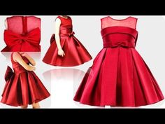 DIY Designer Box Pleated baby Frock For 4 Year Baby Girl Full Tutorial Little Girl Gowns, Little Girl Pageant Dresses, Girls Dresses Sewing, Gowns For Girls, Frocks For Girls, Dresses Kids Girl, Baby Frock Pattern, Frock Patterns, Baby Girl Dress Patterns