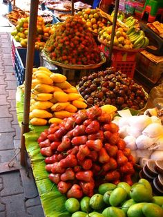 Fruit Market, Chiang Mai, Thailand by Scrunchleface - Fantastic stopover when travelling to Koh Samui Thailand Travel, Asia Travel, Samui Thailand, Koh Samui, Bangkok, Laos, Street Food Market, Thai Dishes, Exotic Fruit