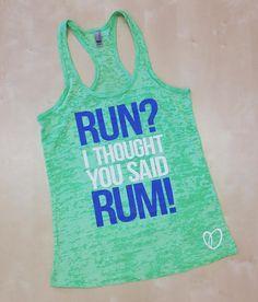 Run I Thought You Said RUM // Abundant by AbundantHeartApparel