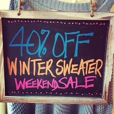 Don't Miss Out! ❄️ #wintersback #goaway #sweater #sale #weekend #shopping #retailtherapy #wheresspring #boutique #discount #fashion #style #mosaicdistrict #fairfaxcorner #shopsmall