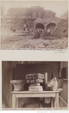 Fouilles au pied du Choeur des Dames (MFILM G-119185) ; Débris trouvés au pied du Choeur des Dames (MFILM G-119186);