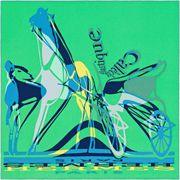 La Maison des Carrés Hermès | 70 x 70 cm scarf Calèche Elastique green