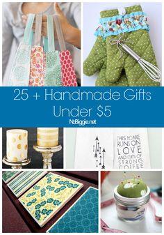 25+ Handmade gifts under $5 via NoBiggie.net