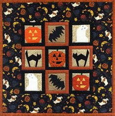 Halloween Foundation Paper-Pieced Wallhanging of — Quilted Angel Types Of Pins, Halloween Quilts, Easy Quilt Patterns, Foundation Paper Piecing, Easy Quilts, Rock N Roll, Sewing Projects, Angel, Blanket